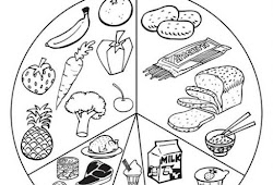Catatanku Anak Desa Mewarnai Gambar Makanan 4 Sehat 5 Sempurna