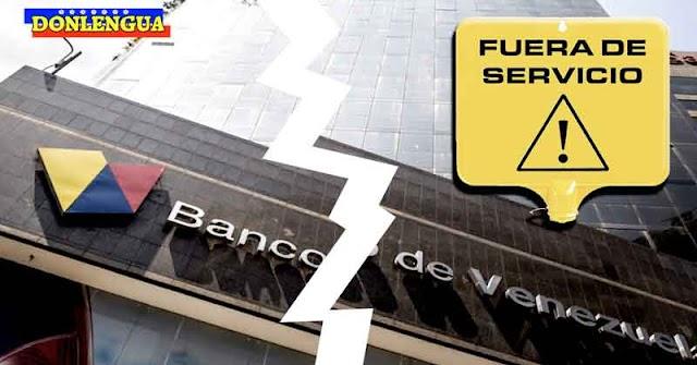 """Plataforma del Banco de Venezuela lleva 5 días inoperativa y parece que """"No Volverá"""""""