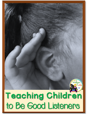 A child cusping her hand over her ear to indicate she is listening well