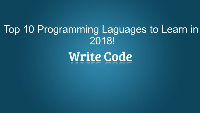 By Photo Congress || Best Languages To Learn Programming 2018