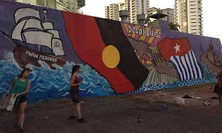 Indonesian consul says he's unaware of 'pressure' to paint over West Papua mural