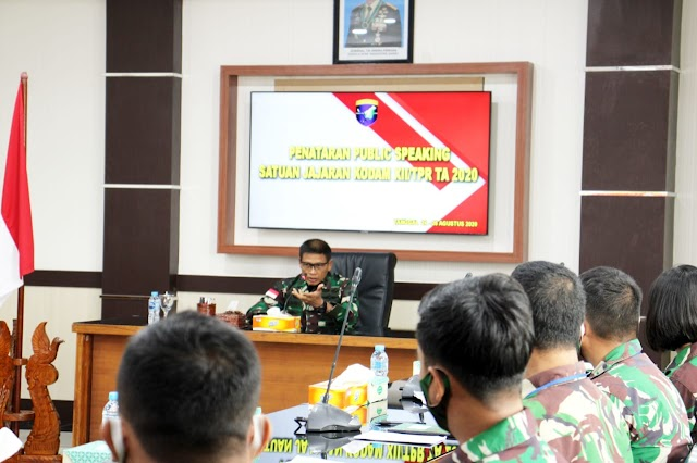 Pangdam XII/Tpr: Tugas Prajurit Penerangan Manyampaikan Informasi yang Benar Kepada Masyarakat