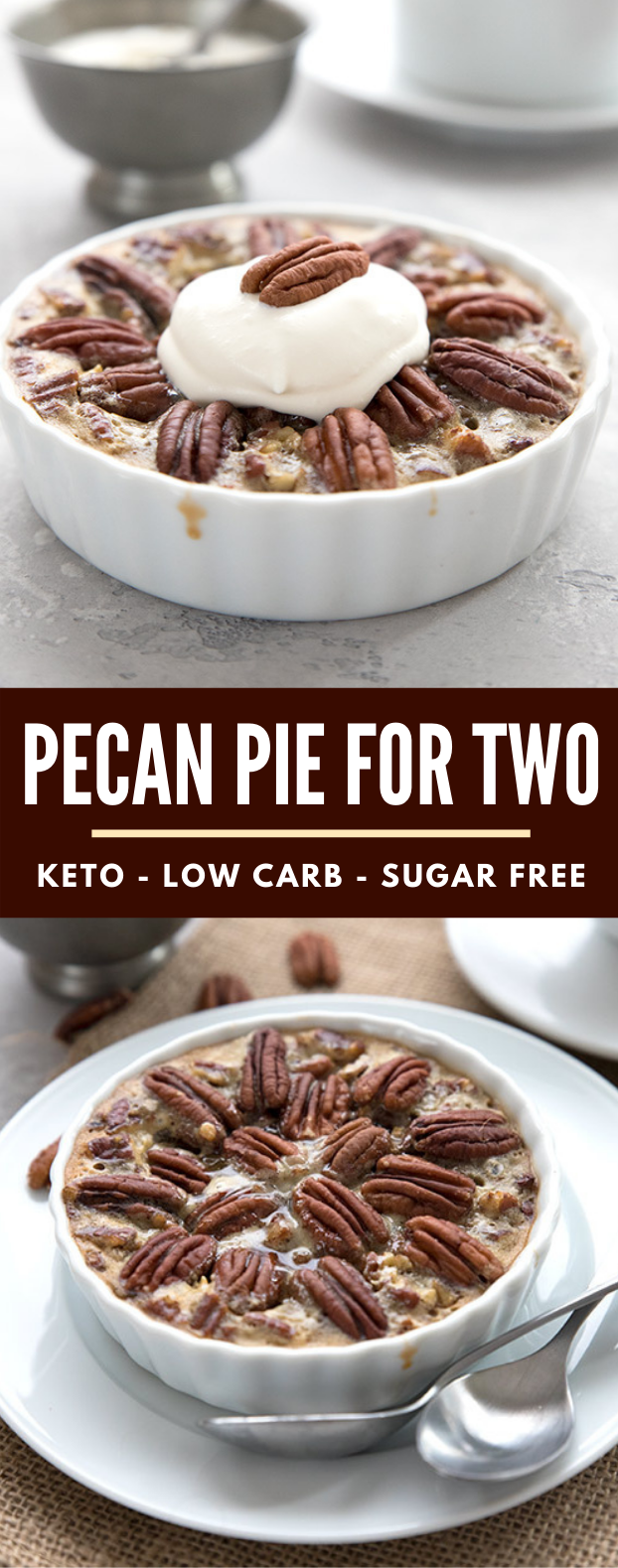 KETO PECAN PIE FOR TWO #healthy #lowcarb  #ketogenic #diet #sugarfree