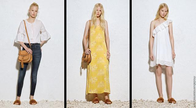 Blusas, vestidos largos, vestidos cortos ropa de mujer 2018. Moda 2018.