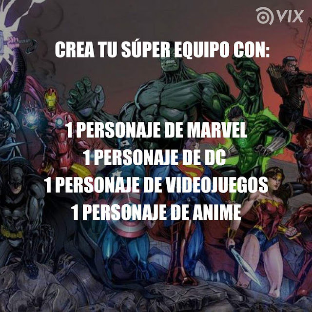 Crea tu super equipo de heroes con...