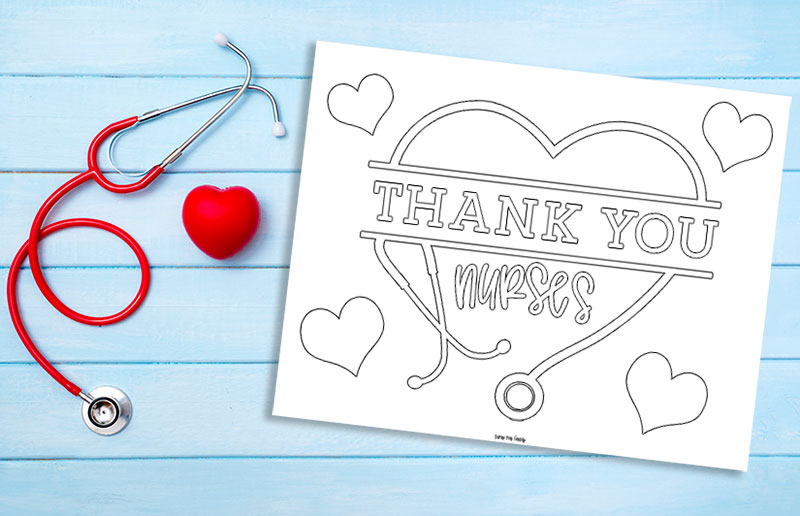 Free Printable Thank You Nurses Coloring Page Sunny Day Family