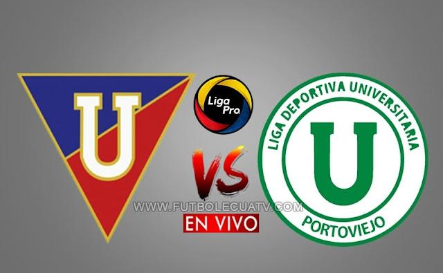 Liga de Quito y Liga de Portoviejo se enfrentan en vivo a partir de las 15h00 hora local, continuando la liga pro, siendo emitido por GolTV Ecuador a jugarse en el Estadio Rodrigo Paz Delgado. Con arbitraje principal Henri Arízaga.