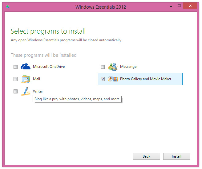 Cara Install Windows Movie Maker pada Windows 8