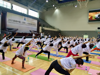 1st International Day of Yoga -observed at Kunming University-21/06/2015