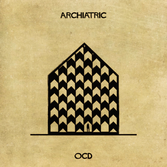 16-Obsessive-Compulsive-Disorder-Federico-Babina-ARCHIATRIC-Mental-Health-Illustrations-Paired-with-Architecture-www-designstack-co