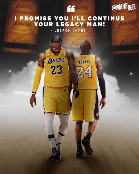 LeBron James and Co. only need to win four more games for the Mamba.