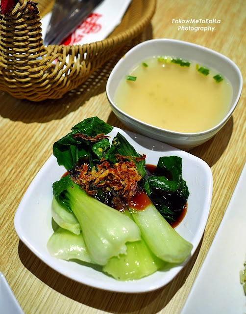 Pak Choy with Oyster Sauce, Soup of The Day