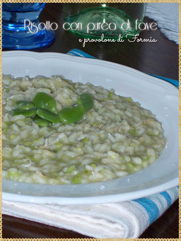 Risotto con purea di fave e provolone di Formia