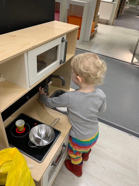 Ikea play kitchen in the kitchen