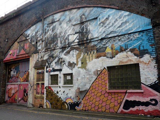 Graffiti al Manchester industrial