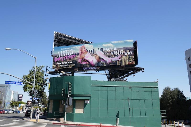 Nikita Unfiltered season 2 billboard
