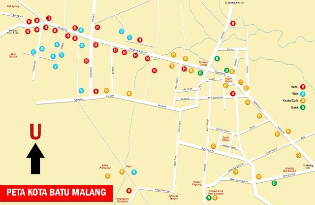Gambar Peta Kota Batu Malang, Jawa Timur