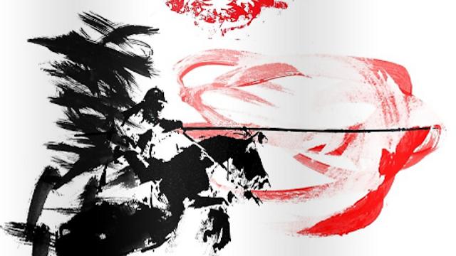 husarz, biało czerwona grafika