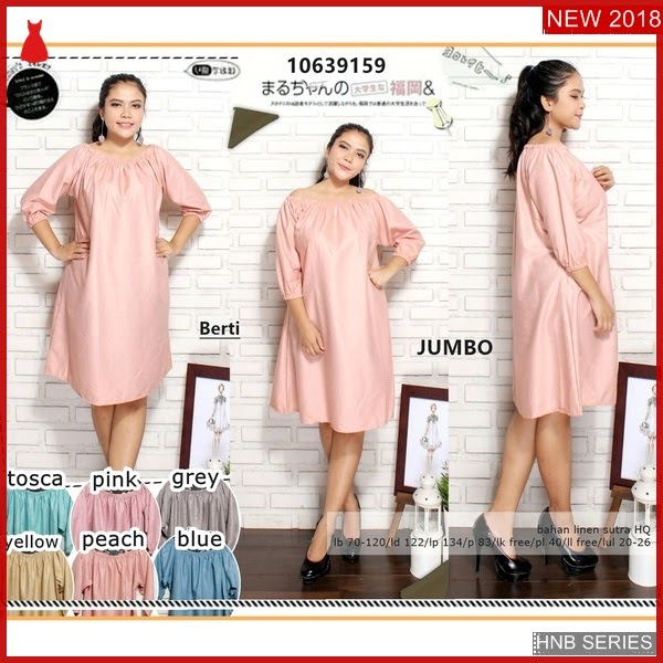 HNB041 Model Baju Ukuran Besar Jumbo Chery Dress BMG Shop