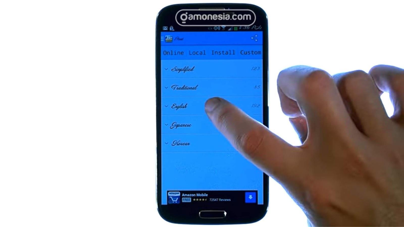 cara mengganti font android menjadi font iphone