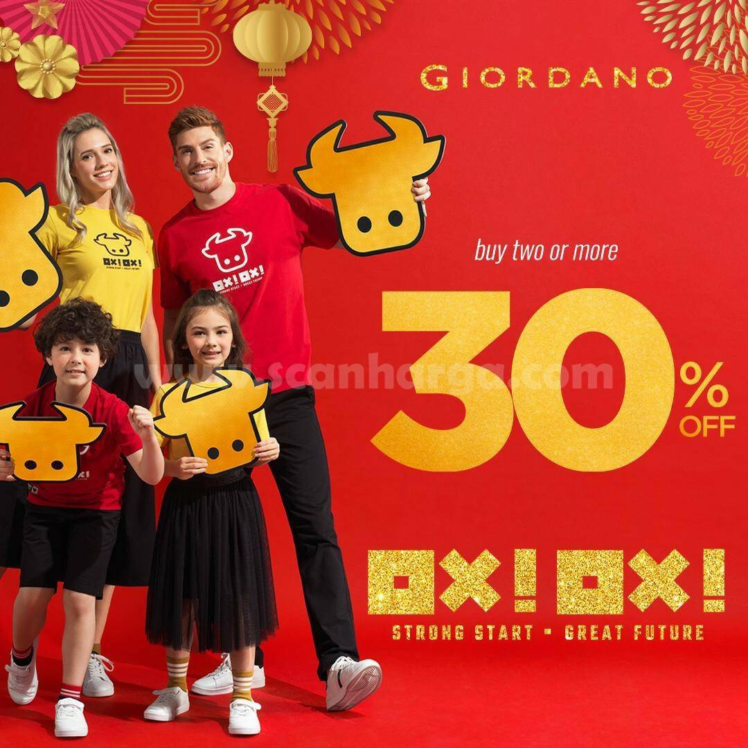 Giordano Promo Buy 2 Or More Discount up to 30% Off