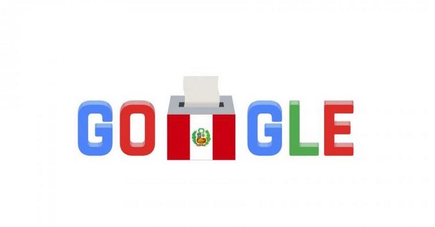 GOOGLE: Gigante de internet destaca segunda vuelta electoral en Perú con doodle en su buscador