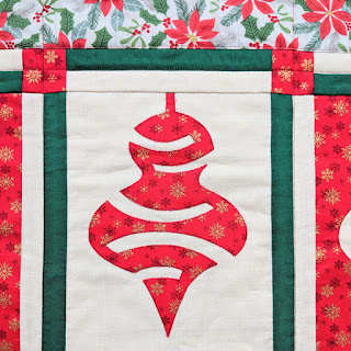 Christmas ornament quilt