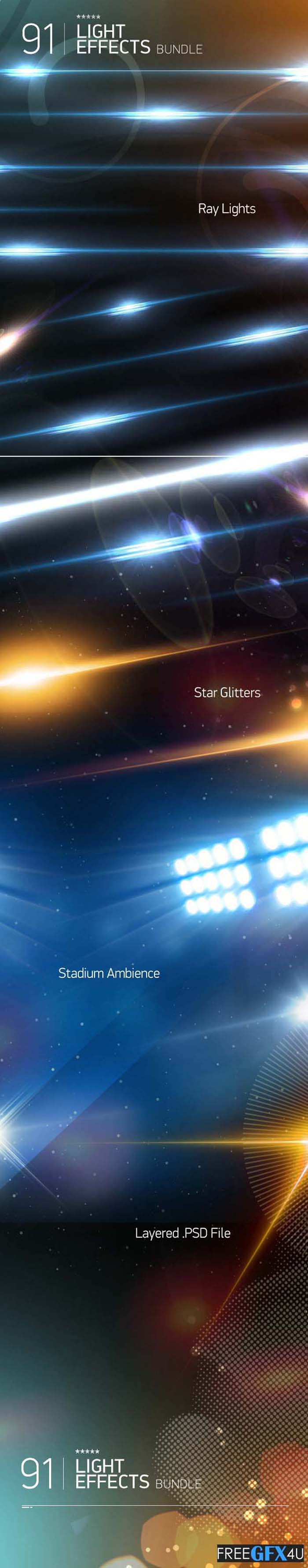 19 Ray Light Effects PSD Templates