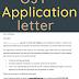 OJT Application Letter word