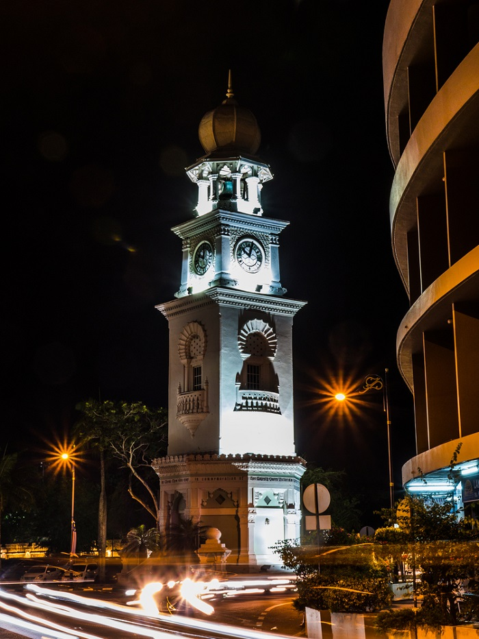 Jubilee Clock Tower Penang Night View