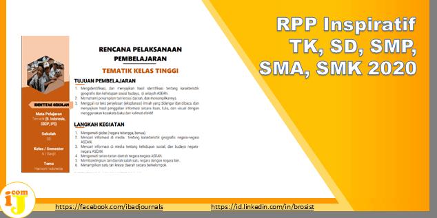 RPP Inspiratif TK, SD, SMP, SMA, SMK 2020