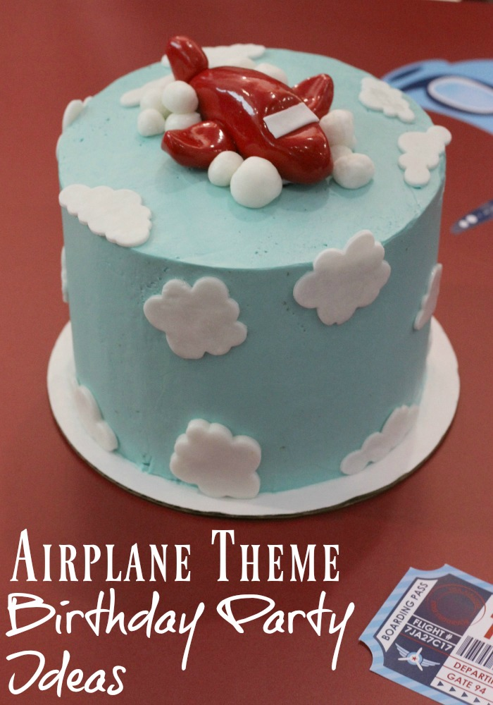 All the party ideas and supplies you need for an airplane themed birthday party, great for toddlers, young kids and first birthday party themes