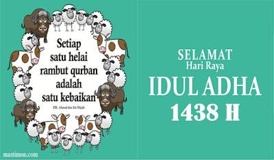 Kumpulan kartu ucapan IDUL ADHA 1438H tahun 2017 yang Unik