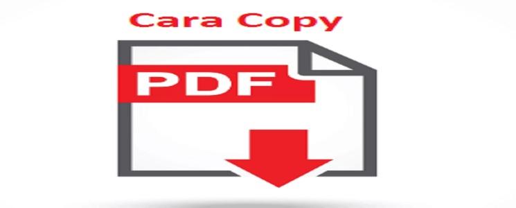 Cara Mengcopy Tulisan di File PDF yang diKunci Dengan Mudah