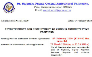 RPCAU Lower Division Clerk (LDC) Previous Question Papers and Syllabus 2020