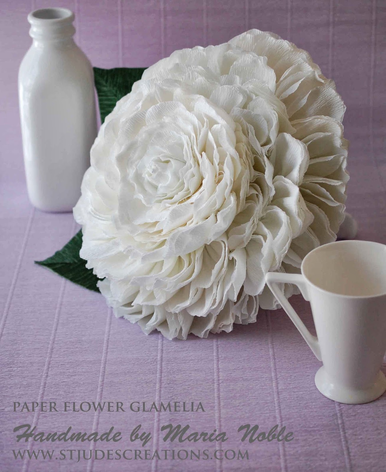 Glamelia Bouquet For A Canadian Bride! Crepe Paper Flower