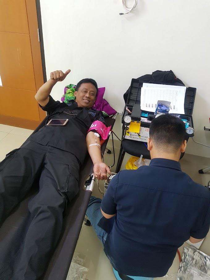 HUT Lantas ke-62, Samsat Depok Gelar Donor Darah