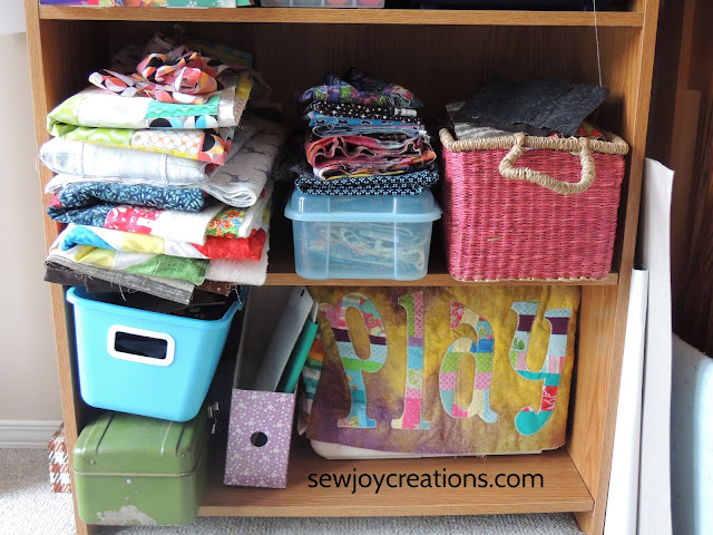 sewing machine cover project bins