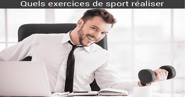 Exercices de sport faciles et discrets pendant la journée