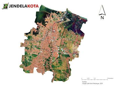 Peta Kota Pekalongan yang diambil dari citra satelit