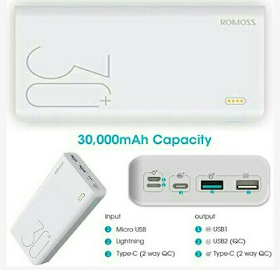 Romoss Power Bank - 30000mAh Phone/Tablet Battery Charger