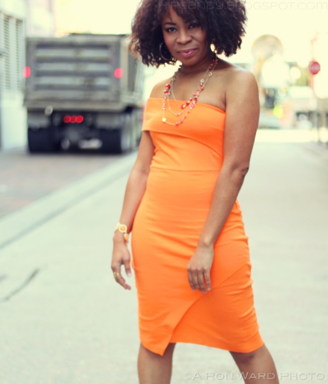 Orange Bodycon Dress DIYStyle Fashion Sewing