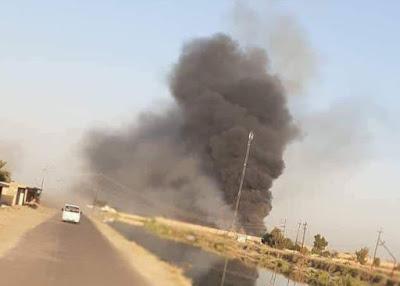 سقوط ثلاثة صواريخ على قاعدة بلد الجوية مساء اليوم الأربعاء