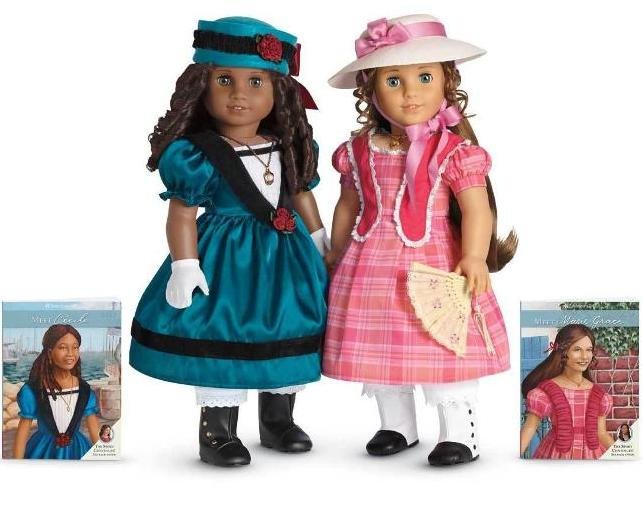 Black Doll Collecting Ccile And Marie-Grace, New -9645