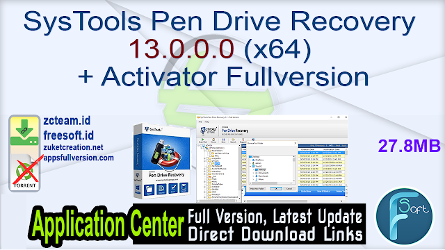 SysTools Pen Drive Recovery 13.0.0.0 (x64) + Activator Fullversion