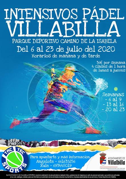 Cursos Intensivos de Pádel en Villalbilla del 6 al 23 de Julio 2020. Mejora tu juego este verano.