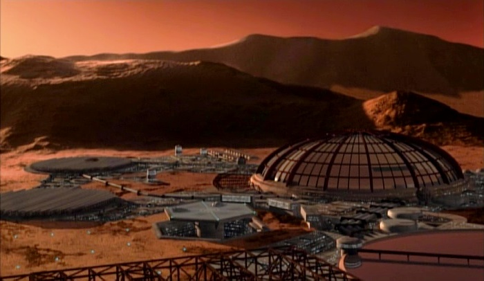 Mars in Babylon 5 - Martian colony in Syria Planum