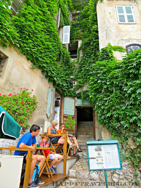 Charming little cafe in Eze, France