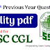 SSC CGL- 100 Previous year Polity Questions PDF Download
