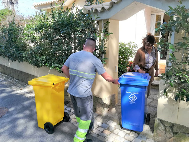 Moradias de Birre e Cobre recebem contentores para plástico e papel